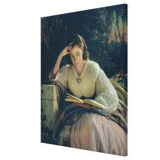 Reading , 1863 gallery wrap canvas