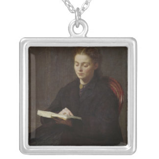 Reading, 1863 silver plated necklace