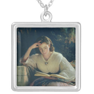 Reading , 1863 silver plated necklace