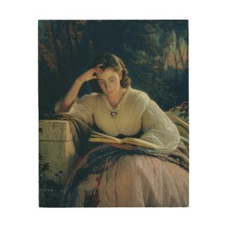 Reading , 1863 wood print