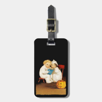 Reading a Scary Story Bag Tags