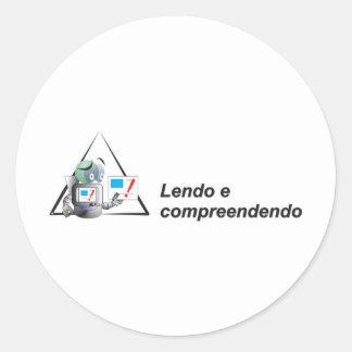 Reading and understanding robozinho intelligent round sticker