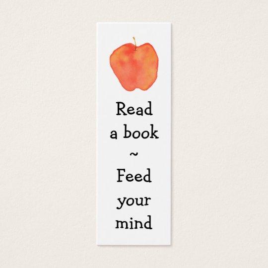 Reading Apple Mini Bookmark - Mini Business Card