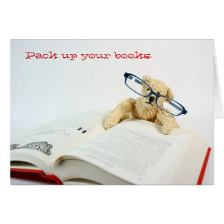Reading Bear Back To School Card