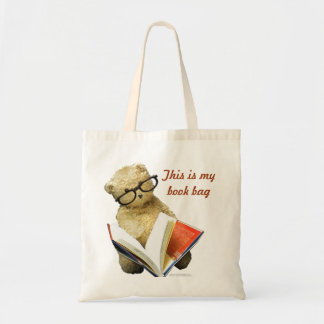 Reading Bear - book bag