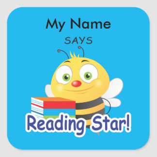 Reading Bee - Reading Star! Square Sticker