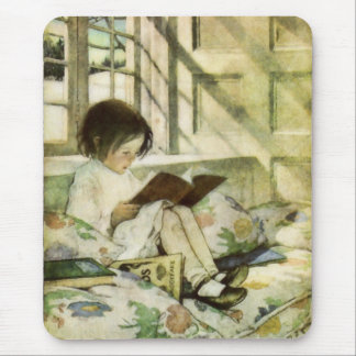 Reading Books in Winter Mousepad