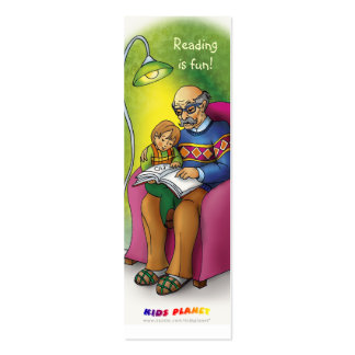 Reading books together bookmark for everyone! business card