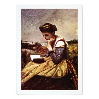 Reading By The Lake 14 Cm X 19 Cm Invitation Card