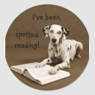 reading dalmatian classic round sticker
