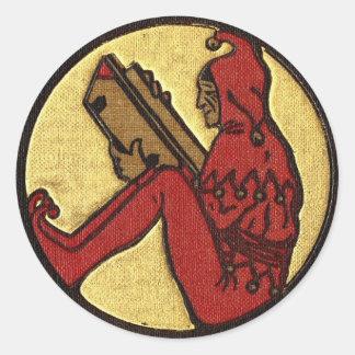 Reading Gnome Sticker