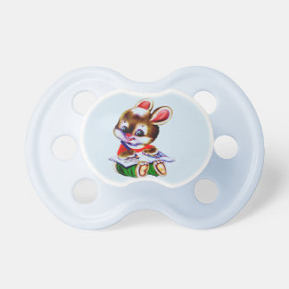 reading hamster cute cartoon for pacifier