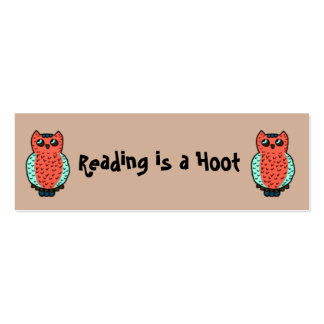 Reading is a Hoot Bookmarks Pack Of Skinny Business Cards