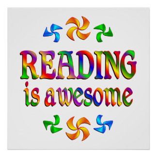Reading is Awesome Poster
