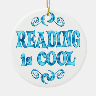 Reading is Cool Christmas Ornament