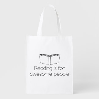 Reading is for Awesome People Reusable Grocery Bag