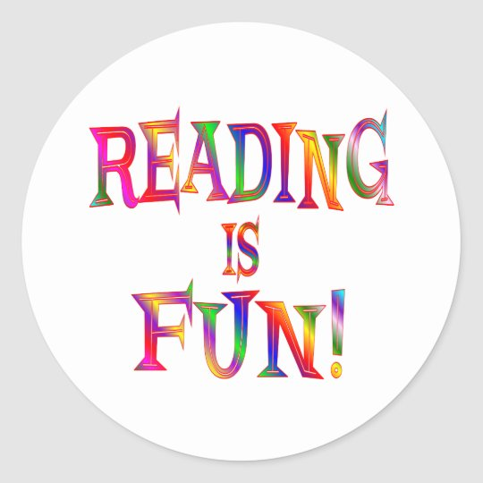 Reading is Fun Classic Round Sticker