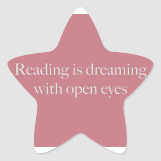 Reading Is like... Star Sticker