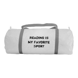 Reading is My Favorite Sport Duffle Bag Gym Duffel Bag