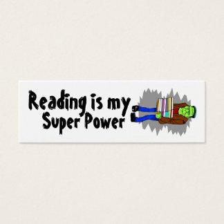 Reading Is My Super Power Mini Bookmarker Mini Business Card