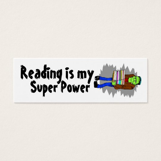 Reading Is My Super Power Mini Bookmarker Mini Business Card