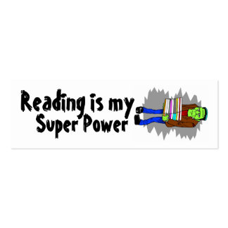 Reading Is My Super Power Mini Bookmarker Pack Of Skinny Business Cards