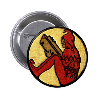 Reading Jester 6 Cm Round Badge