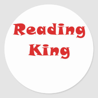 Reading King Round Stickers