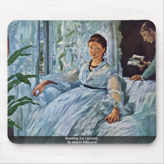 Reading (La Lecture),  By Manet Edouard Mouse Pad