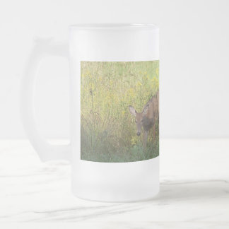 Reading Mountain Deer - Customized Frosted Glass Mug