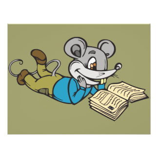 Reading Mouse 21.5 Cm X 28 Cm Flyer