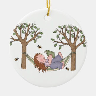 Reading Outdoors Is Fun! Christmas Ornament