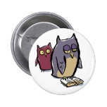 reading owls pinback button