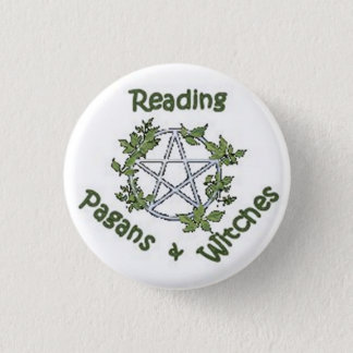 Reading Pagans & Witches Small Button Pin