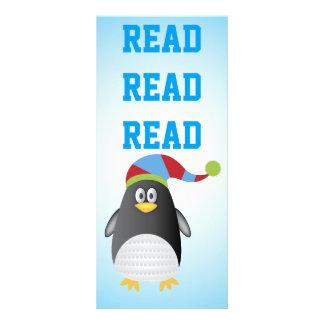 Reading Penguin Book Marker Customized Rack Card