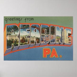 Reading, Pennsylvania - Large Letter Scenes Poster