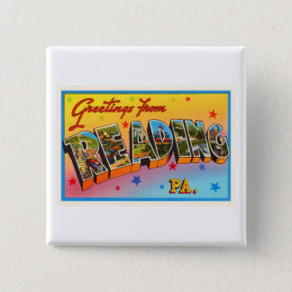 Reading Pennsylvania PA Vintage Travel Souvenir 15 Cm Square Badge