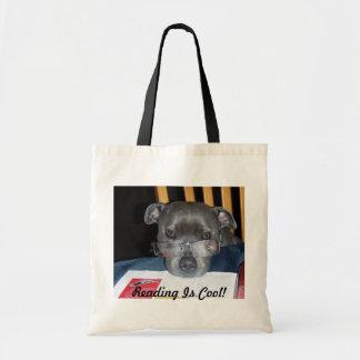 Reading Pup Tote Bag