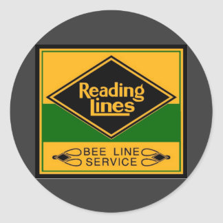 Reading Railroad, Bee Line Service Classic Round Sticker