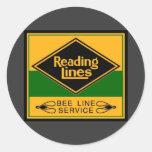 Reading Railroad, Bee Line Service Round Sticker