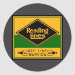 Reading Railroad,Bee Line Service Round Stickers