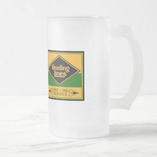 Reading Railroad Lines, Bee Line Service Frosted Glass Beer Mug