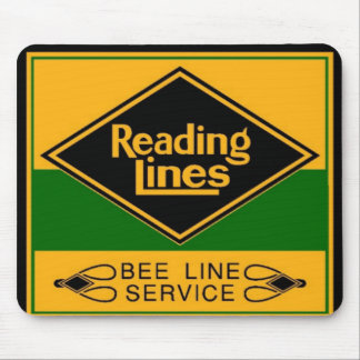 Reading Railroad Lines, Bee Line Service Mouse Mat