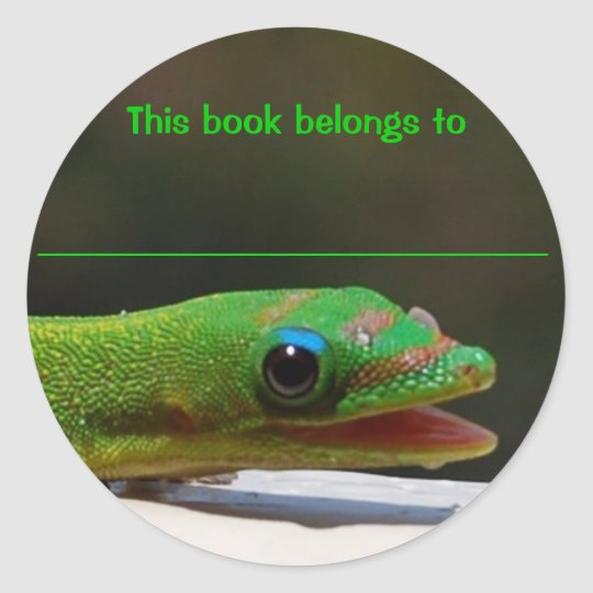 Reading Reptile This Book Belongs To Classic Round