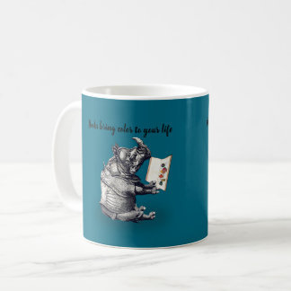 Reading Rhinoceros loves books Coffee Mug