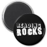 Reading Rocks 6 Cm Round Magnet