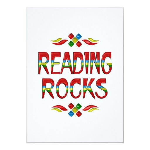 Reading Rocks Custom Invitation