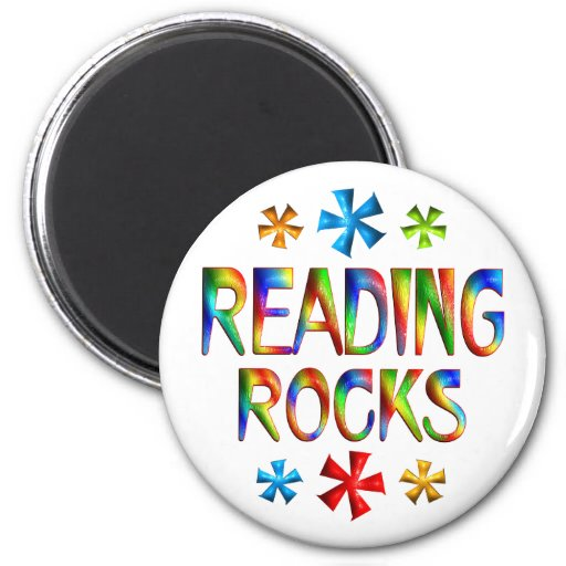 READING ROCKS MAGNET