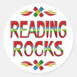 Reading Rocks Round Sticker
