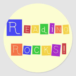 Reading Rocks Tshirts and Gifts Round Sticker